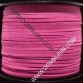 Шнур замшевый, цвет: брусничный, размер: ширина 3мм, толщина 1.5мм, 85м/катушка, (УТ0013430)