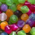 Бусины из смолы, биконус, цвет: микс, размер: длина 8.5мм, ширина 8мм, отверстие 1.5мм, около 30шт/10г, (УТ0018880)