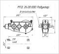 Редуктор коническо-цилиндрический трехступенчатый МТД 26.00.000