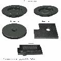 Изделия из серого чугуна: крышки насосов, полумуфта, контргруз, токосъемник