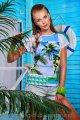 Морской бриз футболка Кимоно