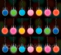 Garland of 2.4 m, 25 LED lamps, 7-colored for the house and the stree