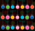 Garland of 4.9 m, 50 LED lamps, 7-colored for the house and the stree