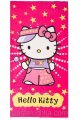 Пляжное полотенце Hello Kitty вид 2 розовое велюр-махра