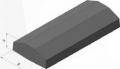 Плита - волна ширина 415 мм, высота 130 мм