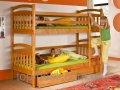 Детская кровать двухъярусная Иринка с ящиками