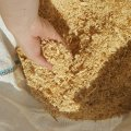 Wood sawdust and shavings (tyrs) of a pine in bags