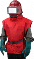 Комплект пескоструйщика (шлем, пелерина, рукав подачи воздуха)