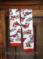 Мужские махровые новогодние носки Hue Санта & Сноуборд белые