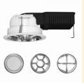 Встраиваемые светильники типа «даунлайт» с различными оптическими элементами и отражателями позволяют реализовать множество идей в сфере освещения помещений.