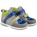 Демисезонные детские ортопедические кроссовки Memo Polo Junior Серо-зелено-синие