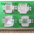 Світлодіод COB 10W, прожекторний, RGB, R 6-8V, 90-110 lm, G 9-11V, 120-130 lm, B 9-11V, 30-40 lm, 0.35A, 11