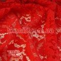 Ткань Гипюр Папоротник ( красный) 4475