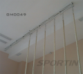 Monorail ropes and poles for climbing