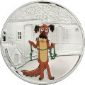 """Пёс. Жил-был пёс. Серебряная монета серии """"Союзмультфильм"""""""