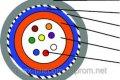 Кабель оптический 12 волокон, SM, броня