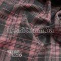 Ткань Костюмная ткань тиар клетка (розовая-серая)