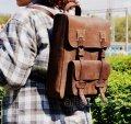 Рюкзак 878051 коричневый кожа