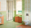 Tile ceramic for a bathroom. A ceramic tile of OPOCZNO - the Collection - AMIRA.