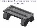 Изложница 2-х местная для литья алюминия, материал-серый чугун по ГОСТ 1412-85