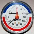 Термоманометр аксиальный Watts F+R818 80 1/2