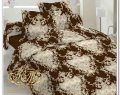 Барокко шоколад, фланель (Полуторный)