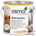 Масло с воском для твердых пород древесины Osmo Klarwachs 2,5 л