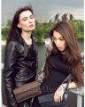 Миниатюрная сумка B037 Коричневая Кожа Украина