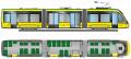 Трехсекционный трамвай T3B44 Электрон