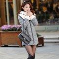Женское зимнее пальто, модель 844 серый
