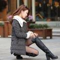 Женское зимнее пальто, модель 844 черный