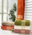 Полотенце бамбук Aleda персиковое 50х90