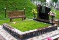 Самая недорогая искусственная трава вокруг надгробья 5мм. код CG1