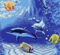 Детский ковролин Морское дно (рыбки) код 1574