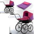 Детская коляска для кукол Melogo 9621 Retro Premium Classic