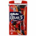 Бритвы одноразовые Gillette Blue 3 Red (6 шт) 7702018076161