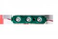 Светодиодный модуль SWP SMD 2835 зеленый с линзой, 0.72Ват, 3 LED