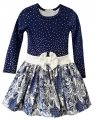 """Детское платье """"Бантик"""", на 3-6 лет, в синих оттенках 9439"""