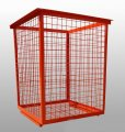 Уличный бак (контейнер) металлический для пластиковых отходов № 4