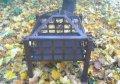 Уличный очаг, садовый камин-мангал вкадратный