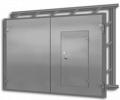Ворота гаражные металлические (распашные)