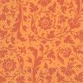 Салфетка 33х33 красный, оранжевый орнамент Марго 20шт