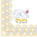 Салфетка 33х33 Лебеди Марго 20шт