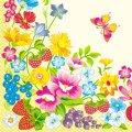 Салфетка 33х33 летние цветы Марго 20шт
