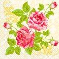 Салфетка 33х33 цветение розы Марго 20шт