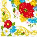 Салфетка 33х33 Цветочная рамочка Марго 20шт