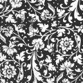 Салфетка 33х33 черно/белый орнамент Марго 20шт