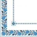 Салфетка 33х33. орнамент вишиванка синя Марго 50шт
