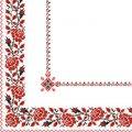 Салфетка 33х33. орнамент вишиванка червона Марго 50шт