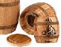 Бочонок подарочный деревянный с крышкой.